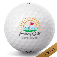 Titleist Pro V1 Sun & Wave California Logo Golf Balls 【ゴルフ ボール】