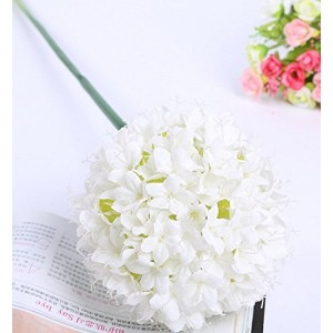Calcifer@ 10Pcs 26.38''Beautiful Silk Artificial Onions Flowers Bouquet For Home Decoration/Wedding (White) by Calcifer [並行輸入品]
