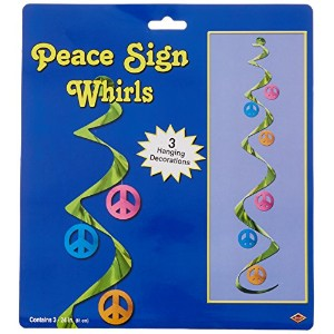 Peace Sign Whirls (3/Pkg) by Beistle