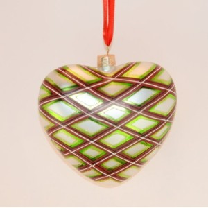 Waterford Holiday Heirloom Plaid Heart by Waterford