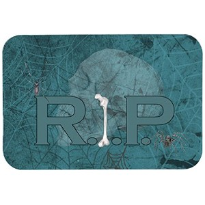 "Caroline 's Treasures sb3004jcmt "" Rip Rest in Peace with spider web Halloween ""キッチンやバスマット、24 "" by..."