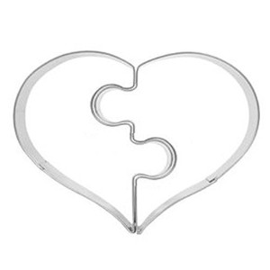 Henai Stainless Steel Love Puzzle Cookie Cutter Mold For Party by HeNai