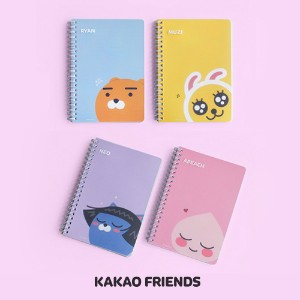 【Kakao friends】カカオフレンズB6 PPカバーノート2冊セット/B6 PP cover note/4種・60枚・128X182㎜・韓国KAKAO FRIENDS正品