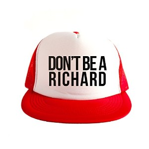 Don't Be A Richard Cool Swag Hip Hop 印刷 80s Style スナップバック 帽子 キャップ スタイル