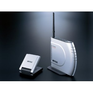 BUFFALO AirStation HighPower 11g&b 無線LAN BroadBandルータUSB2.0用HighPower無線LAN子機セット WHR-HP-G/U