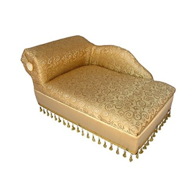 Cleopatra Chaise Elegant Gold Pet Bed by Keet