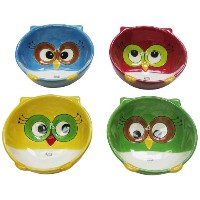 Cosmos Gifts 10914フクロウBowls、5 by 1 – 7 / 8 by 4 – 7 / 8インチ、4のセット