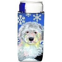 Caroline 's Treasures lh9306-parent Old English Sheepdog Winter Snowflakes Holiday Ultra Beverage...