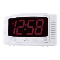 Acctim 14722 Vian Red LED Alarm Clock, White by Acctim