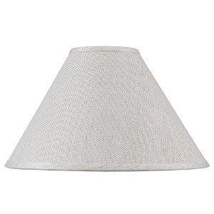 """Cal Lighting sh-8110–21黄麻布13"""" Tall Light Heather Shade with Spiderタイプフィット、 SH-8110-21 1"""