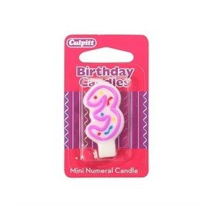 Mini Party Candle '3'