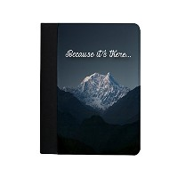 Because It's There Quote Mount Everest Climbing Himalayas Inspirational ノートブック