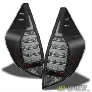 トヨタ アクア テールライト 2012-15 Prius Aqua NHP10 Philips-Led Blk Rear Brake Tail Lights+Strip Signal L+R...