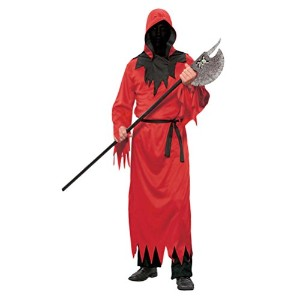 Zhhlinyuan ハロウィン Mens Unisex Cosplay Halloween Costumes Red Robe Stage Party Performance Robes with...