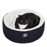 20 inch Black Cat Cuddler Pet Cat Bed By Majestic Pet Products by Majestic Pet