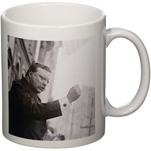 3drose Scenes from the PastヴィンテージStereoview – Teddy Roosevelt the Bull Moose – マグカップ 11-oz ホワイト mug...