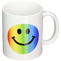 3dローズInspirationzStore Smiley Faceコレクション – レインボーSmiley Face – カラフルなGay and Happy Smilie – マルチカラーSmil...