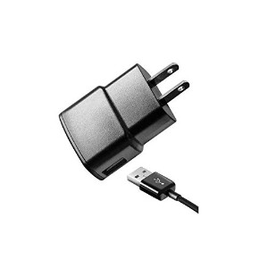 Samsung 1 Amp Travel Charger with 5-Feet Micro USB Cable - Non-Retail Packaging - Black (Discontinue...
