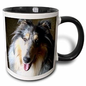 3dローズ犬Rough Collie – Rough Collie – マグカップ 11 oz ホワイト mug_4154_4