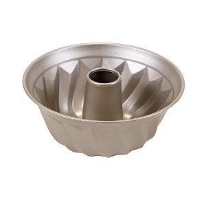 Art and Cook Non-Stick Carbon Steel Bundt Form Pan, 9.5, Champagne by Art and Cook