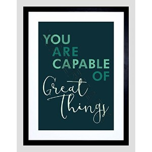 Quote Inspiration You Capable Great Things 12x 16インチフレームアートプリントf12X 12123 12.01 x 16.03 inc - 30...