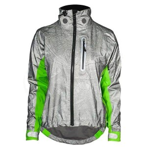 シャワーパス レディース ジャケット&ブルゾン アウター Showers Pass Women's Hi-Vis Torch Jacket Reflective Silver / Neon Green