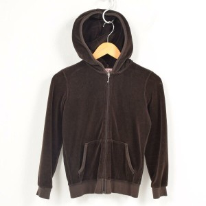 JUICY COUTURE ベロアパーカー USA製 レディースS /waf7555 【中古】 【170921】