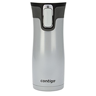 Contigo Autoseal West Loop Stainless Steel Travel Mug with Easy Clean Lid マグ 450ml ホワイト