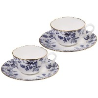 Noritake Sorrentino Cup and Saucer、ブルー、2のセット