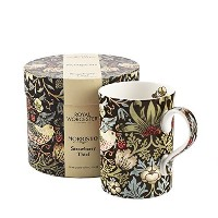 Royal Worcester Strawberry Thief – チョコレートスレートGift Boxed Mug by Royal Worcester