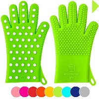 New For Fall: Heavy-Duty Women's Silicone Oven Mitts | Designed in Italy For Her, 2 Sizes Available...