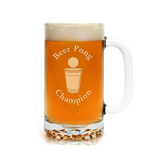 Engraved Beer Pong Champion Beer Mug