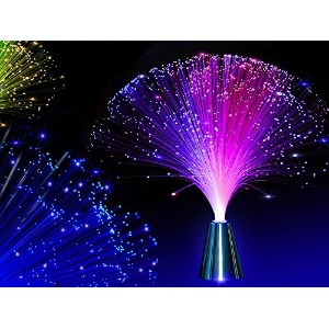 E & A 2pcs LED Colourful Changingファイバ光ファイバFountain夜ライトランプクリスマス鎮静化