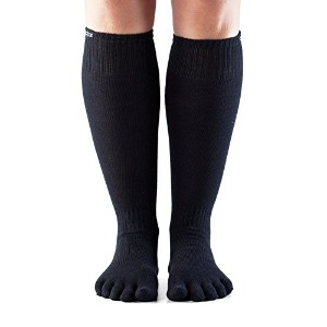 ToeSox Casual Full Toe Knee High Black M