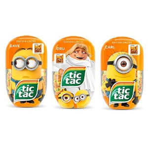 Tic Tac Limited Edition Despicable Me3 Minion 3 Pack Bundle [並行輸入品]