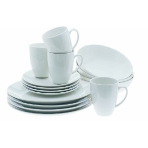 Maxwell and Williams Basics 16-Piece Coupe Dinner Set, White by Maxwell & Williams