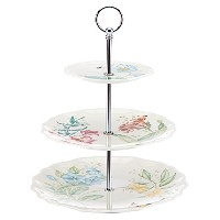 Lenox Butterfly Meadow Melamine 3 Tiered Server, White by Lenox