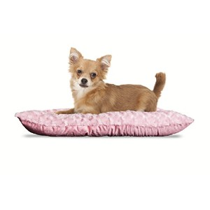 NAP Pet Bed Ultra Soft Plush Pillow Pet Bed, Strawberry, 12-Inch by 18-Inch by Furhaven Pet