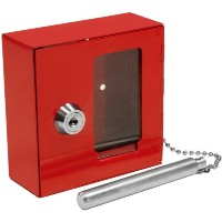 BARSKA Breakable Emergency Key Box w/ Attached Hammer by BARSKA