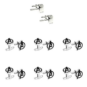 Super Hero Groom 's 7 Pack Thor & Avengers Cuff Links withギフトボックスbyスーパーヒーロー