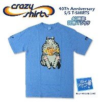 Crazy Shirts(クレイジーシャツ) S/S Tee @BLUE HAWAII DYED[2010910] 40Th Anniversary クリバンキャット 半袖 Tシャツ HAWAII...