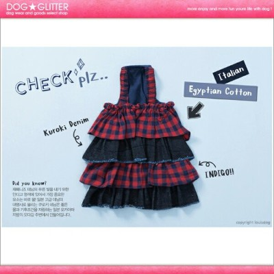 ルイスドッグ LouisDog Check Plz Dress【RCP】【HLS_DU】