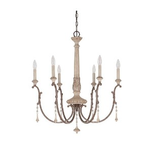 Capital照明4096Chateau 6ライト1層Candleスタイルシャンデリア、 28 in. W x 31.75 in. H 4096FO 1