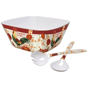 Lang Farmers MarketメラミンLarge Serving Bowlセットby Kimberly Poloson ( 2106001)