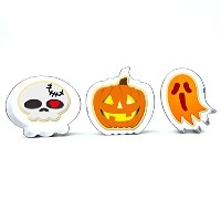 GXHUANGハロウィンテーマSugar Cookie Cutters Set , Ghost Pumpkin – ステンレススチール