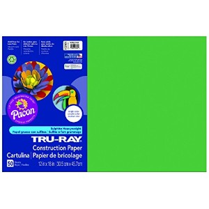 Tru-Ray Construction Paper, 76 lbs., 12 x 18, Assorted, 50 Sheets/Pack (並行輸入品)