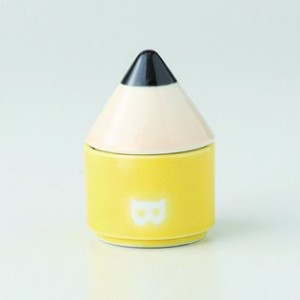 波佐見焼 ペンシル Sケース(黄) 2個セット 茶入れ Japanese porcelain Hasami ware. Set of 2 pencil S case yellow.