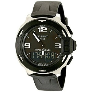 ティソ Tissot 腕時計 メンズ 時計 Tissot Men's TIST0814201705701 T-Race Black Stainless Steel Watch with Black...