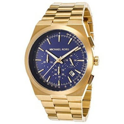 マイケルコース Michael Kors メンズ 腕時計 時計 Michael Kors Men's MK8338 - Channing Gold/Navy Watch