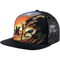 ハーレー レディース 帽子 キャップ【Clark Little Kamehameha Trucker Hat】Black